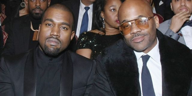 """(L-R) Kim Kardashian, Kanye West, Damon Dash, and Ava Dash attend """"The BET Honors"""" 2015 at Warner Theatre on January 24, 2015 in Washington, DC. (Photo by Bennett Raglin/BET/Getty Images for BET)"""