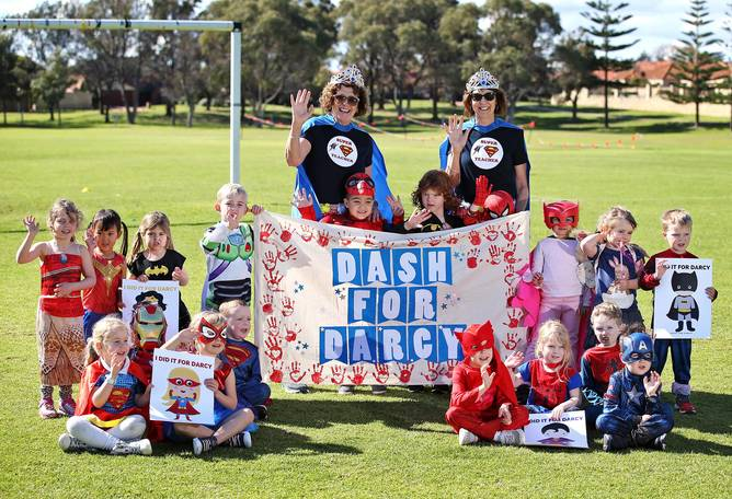 Hillarys Community Kindergarten held a fundraising 'Dash for Darcy' to support student Darcy Keely, who has leukaemia.