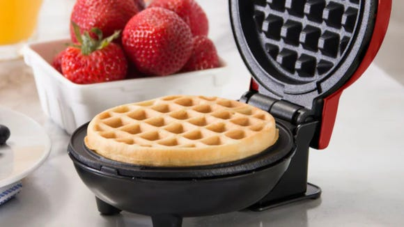 This Dash waffle maker is completely adorable, and it's on sale.