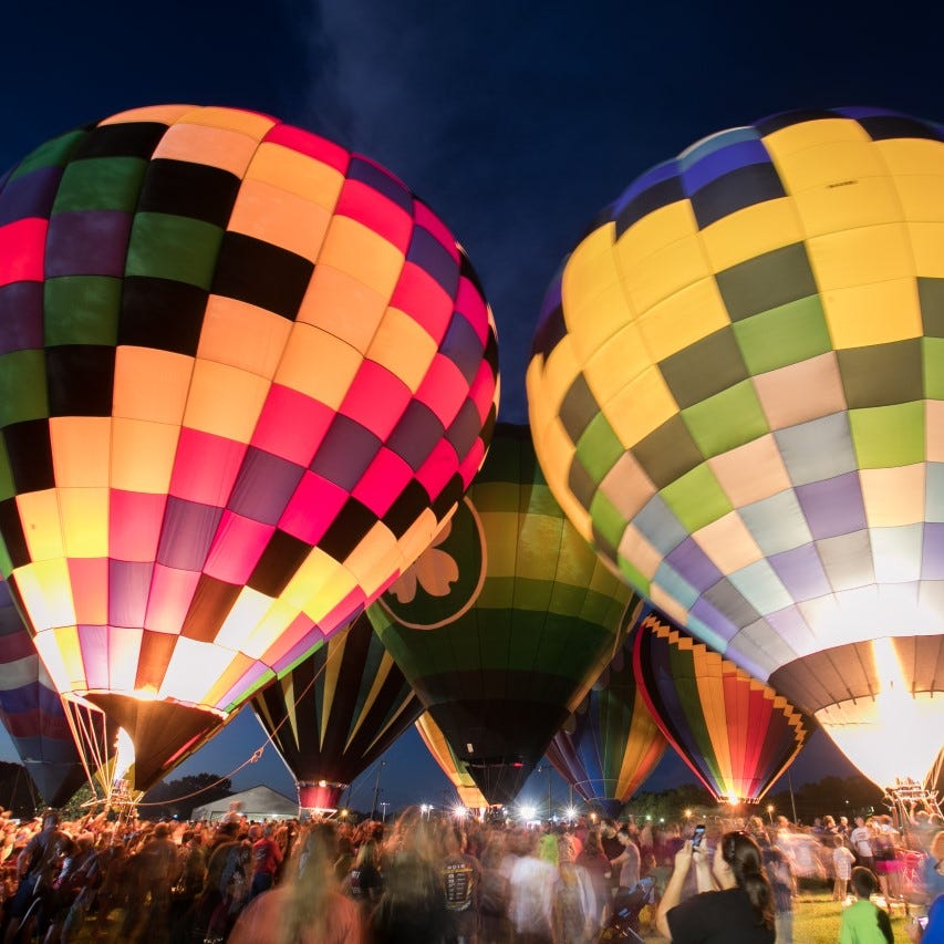 Balloons draw a crowd at a previous Balloon Glow event in Ozark.
