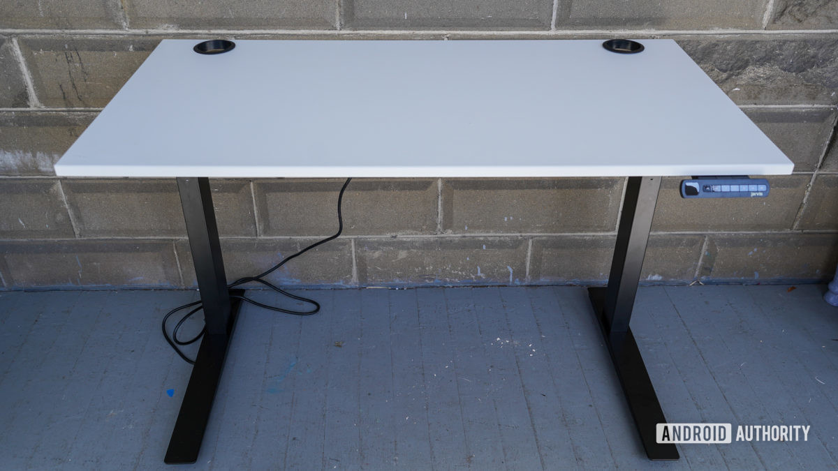 Fully Jarvis standing desk lowered