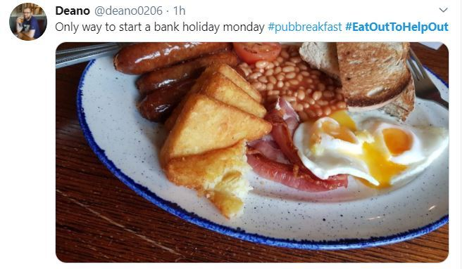 Others are taking advantage of the Monday bank holiday to enjoy fry-ups