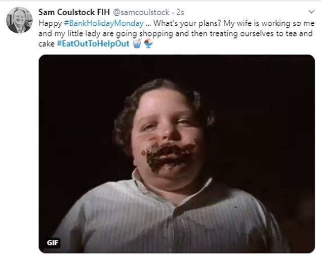 One social media user used a photo of Bruce Bogtrotter from Matilda when joking about the scheme