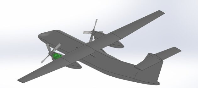 Hydrogen-fueled Dash 8