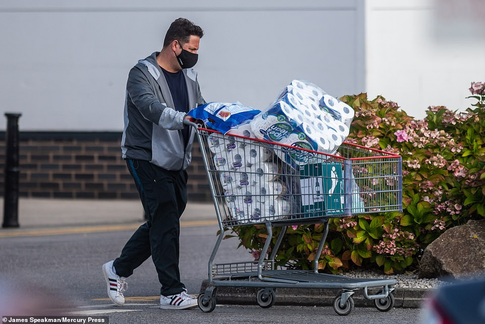 The frenzied buying has echoes of the empty shelves seen in March as shoppers stocked up on essential items ahead of the first nationwide lockdown