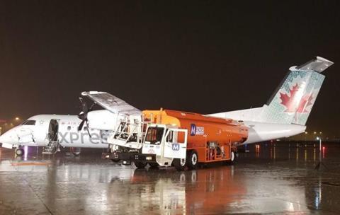 Jazz Dash 8 fuel truck collision